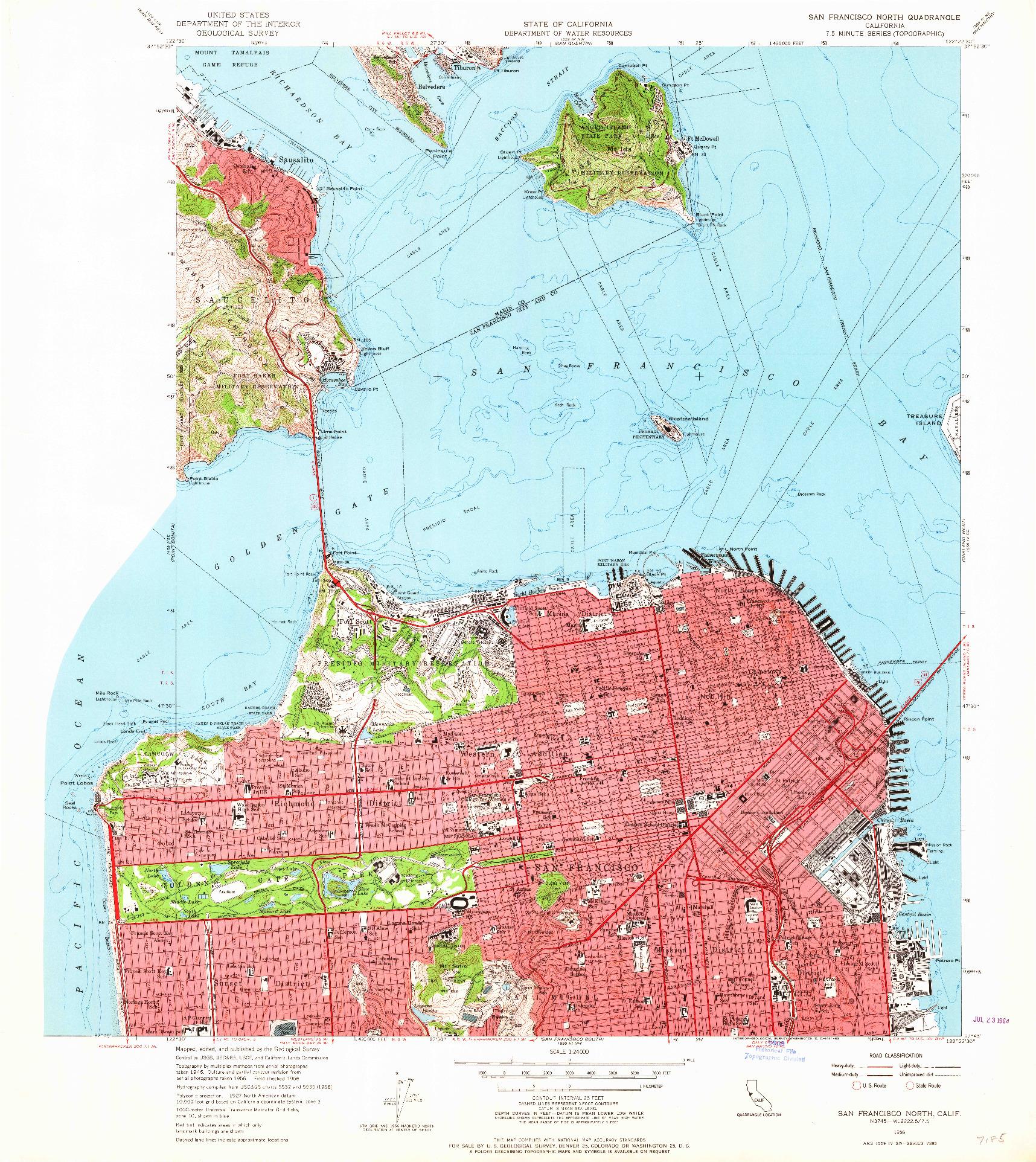 USGS 1:24000-SCALE QUADRANGLE FOR SAN FRANCISCO NORTH, CA 1956