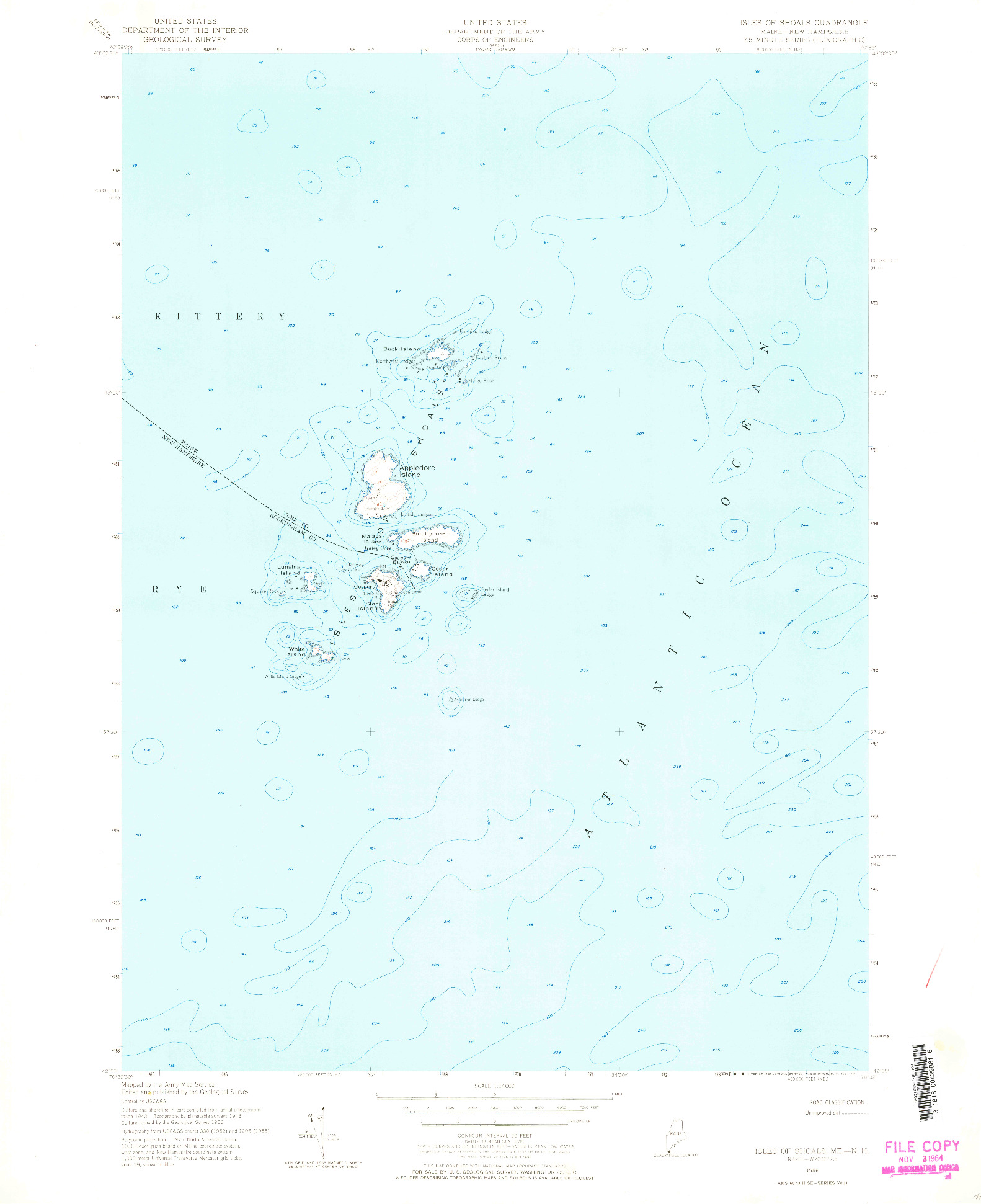 USGS 1:24000-SCALE QUADRANGLE FOR ISLES OF SHOALS, ME 1956
