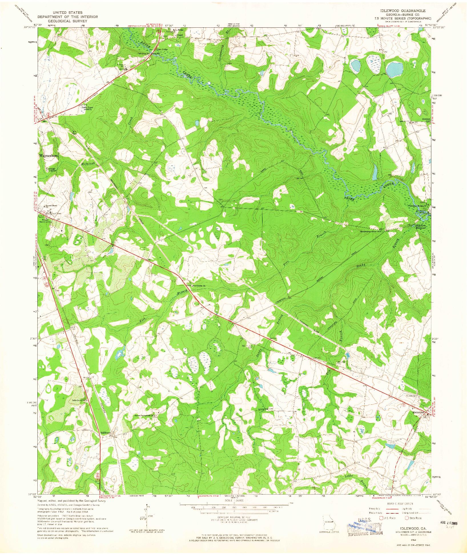 USGS 1:24000-SCALE QUADRANGLE FOR IDLEWOOD, GA 1964
