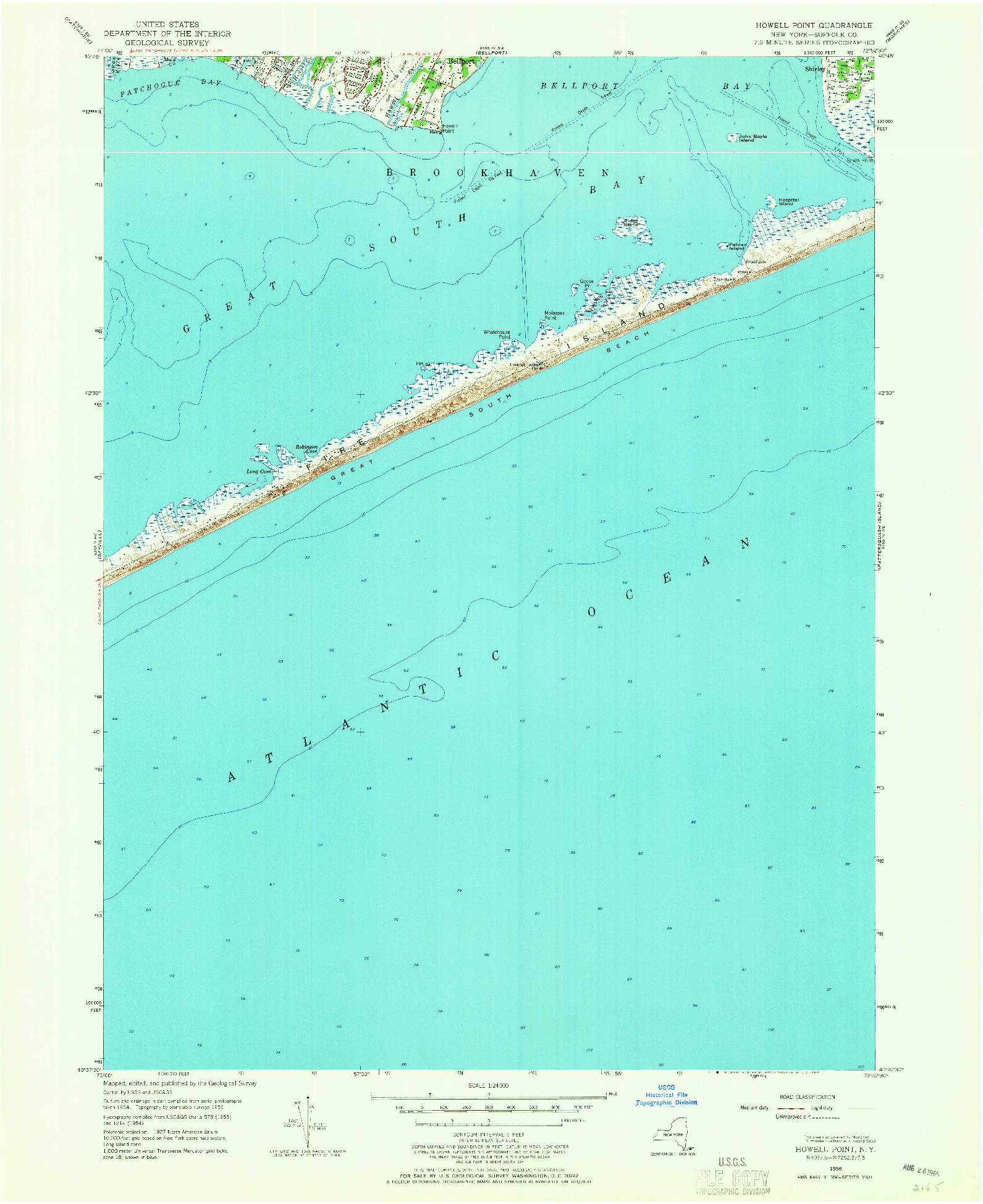 USGS 1:24000-SCALE QUADRANGLE FOR HOWELLS POINT, NY 1956