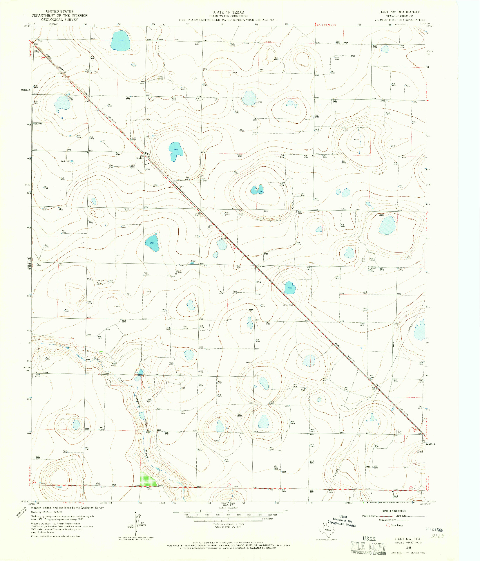 USGS 1:24000-SCALE QUADRANGLE FOR HART NW, TX 1963
