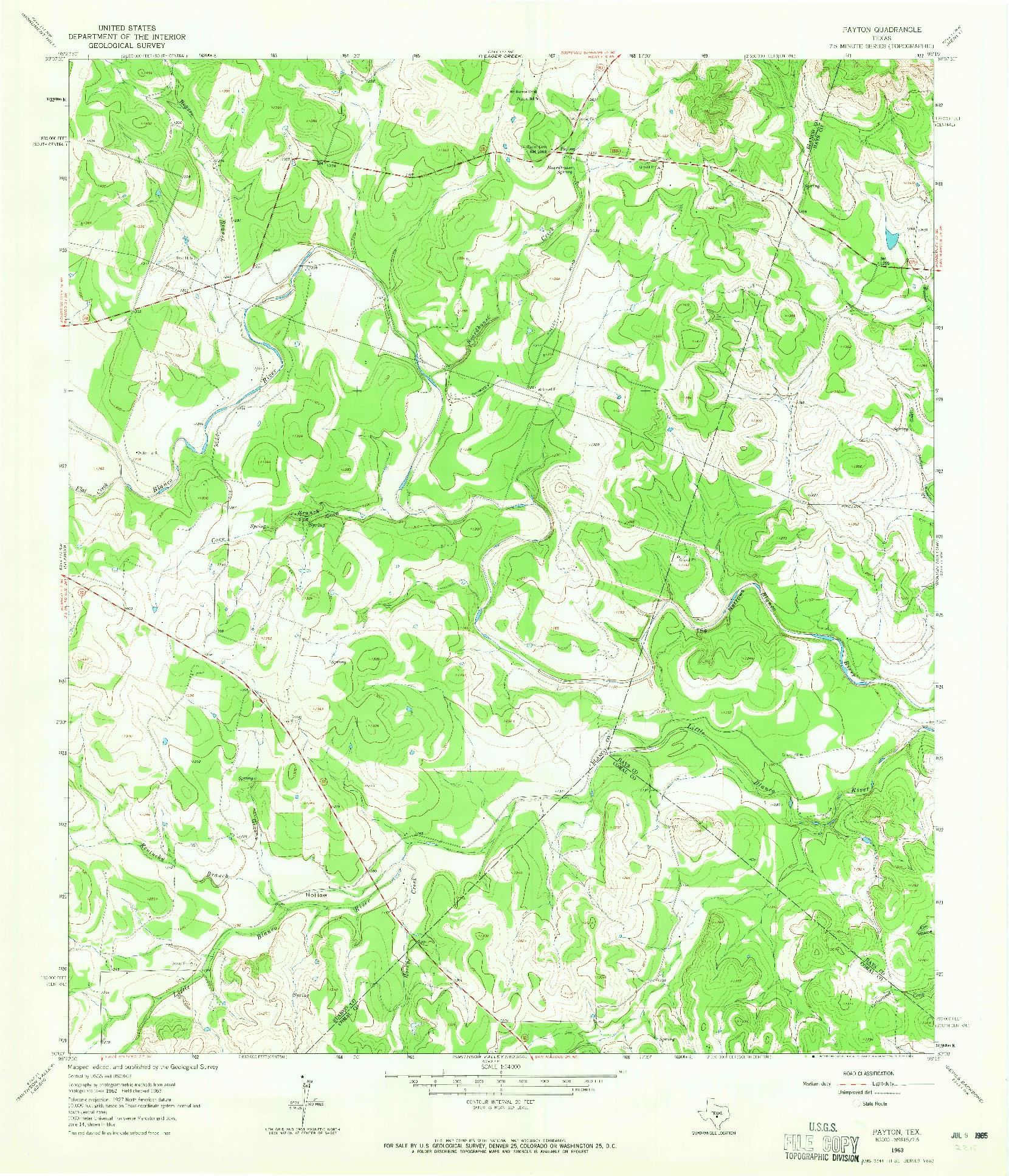 USGS 1:24000-SCALE QUADRANGLE FOR PAYTON, TX 1963