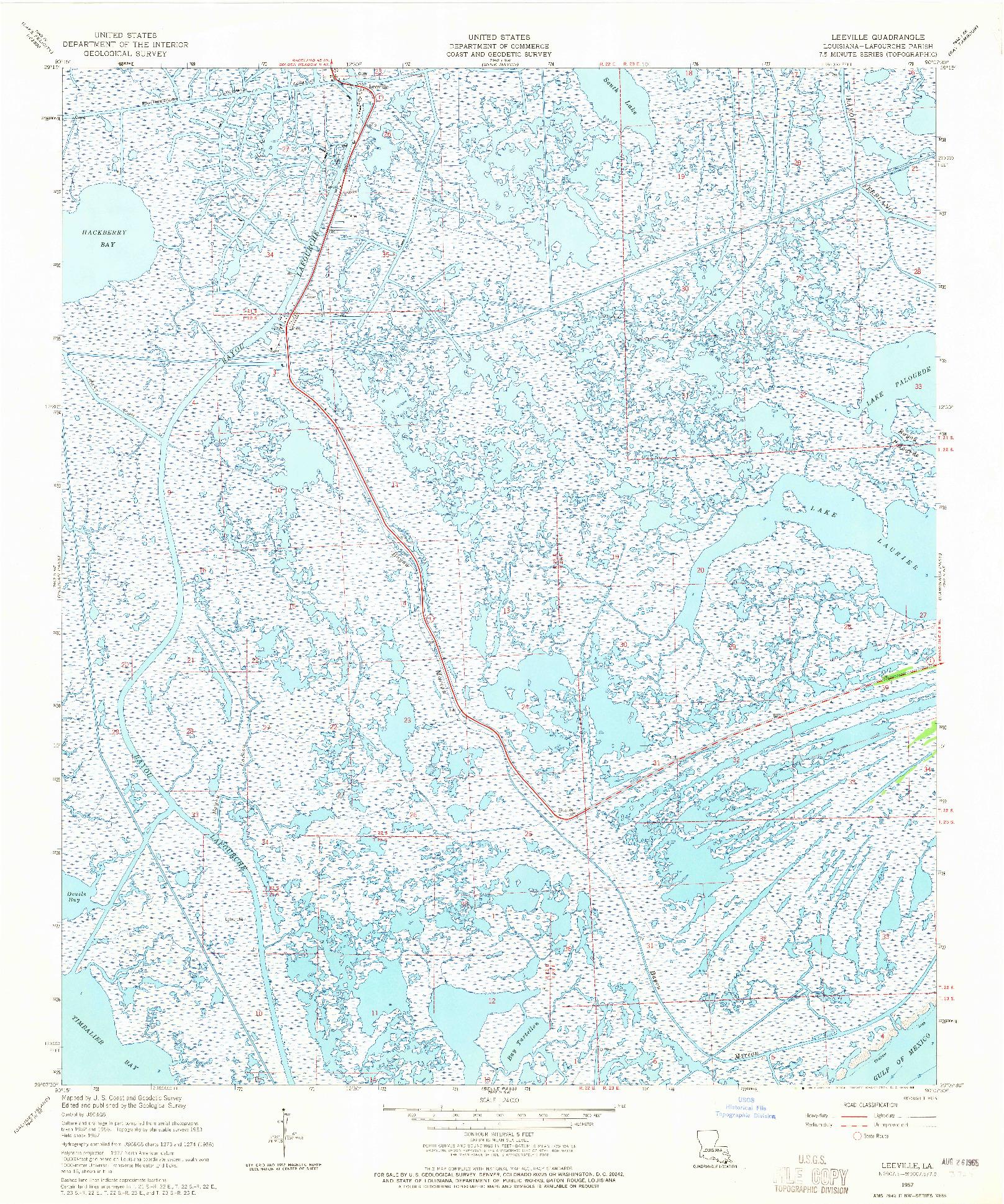 USGS 1:24000-SCALE QUADRANGLE FOR LEESVILLE, LA 1957
