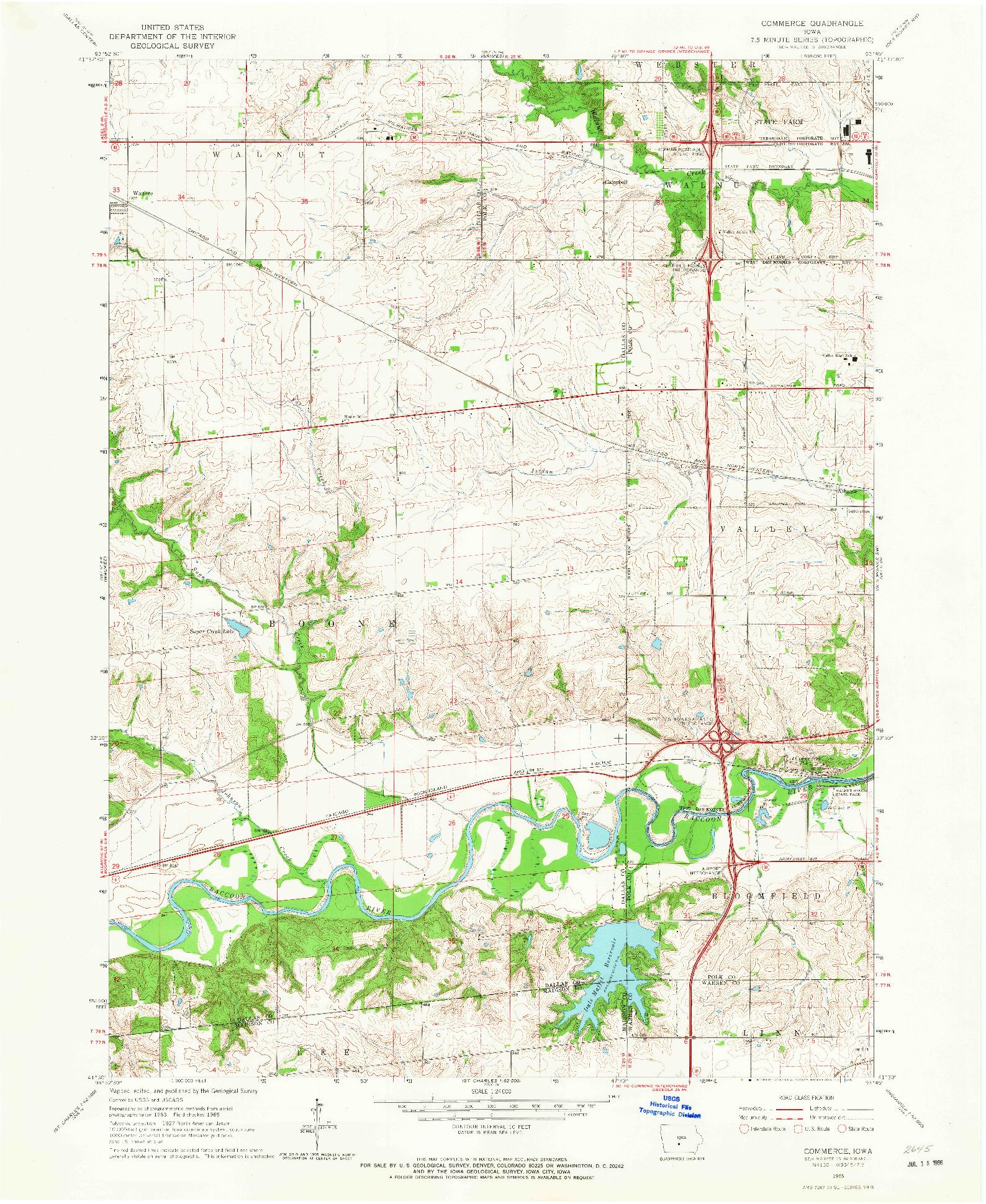 USGS 1:24000-SCALE QUADRANGLE FOR COMMERCE, IA 1965