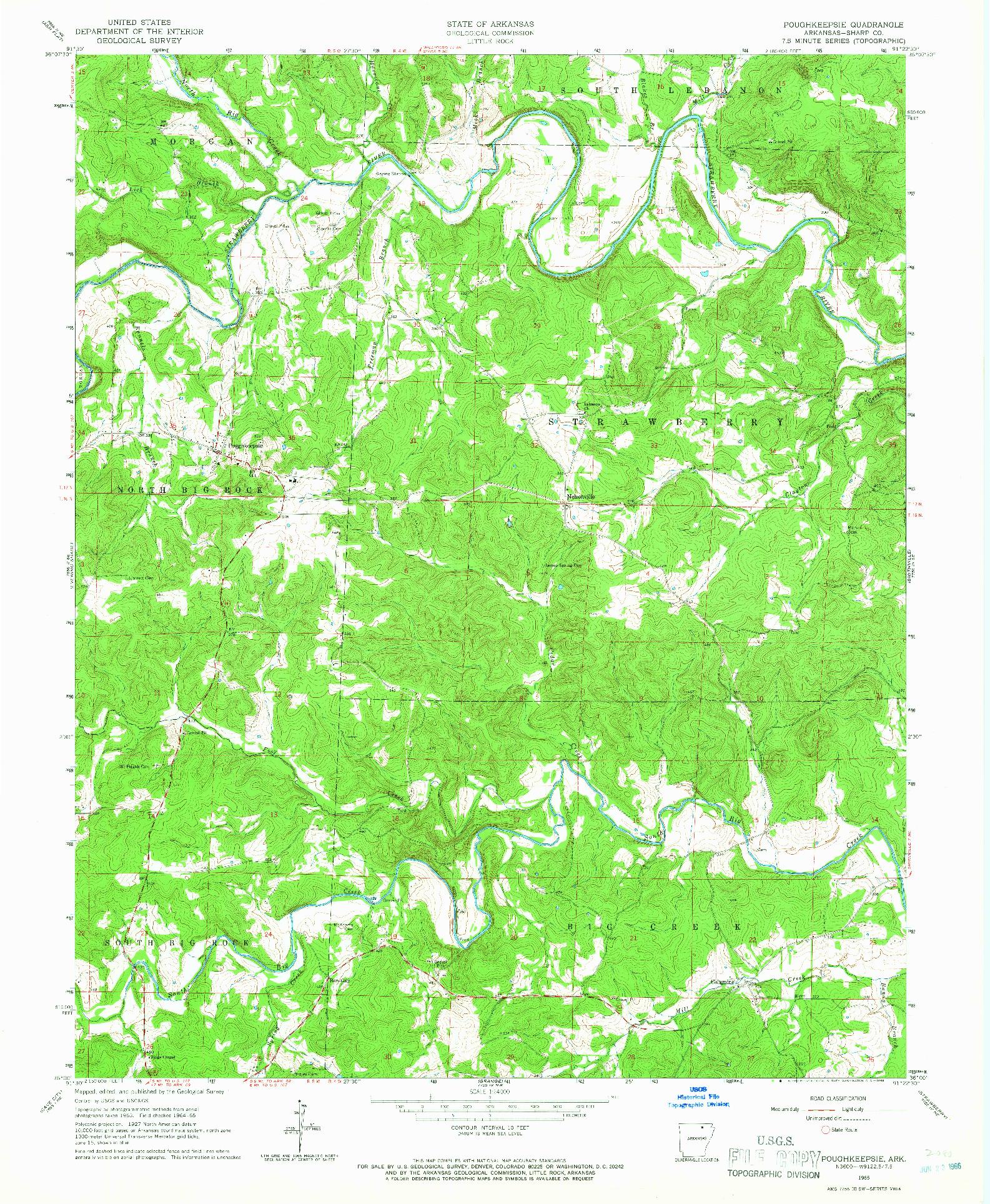 USGS 1:24000-SCALE QUADRANGLE FOR POUGHKEEPSIE, AR 1965