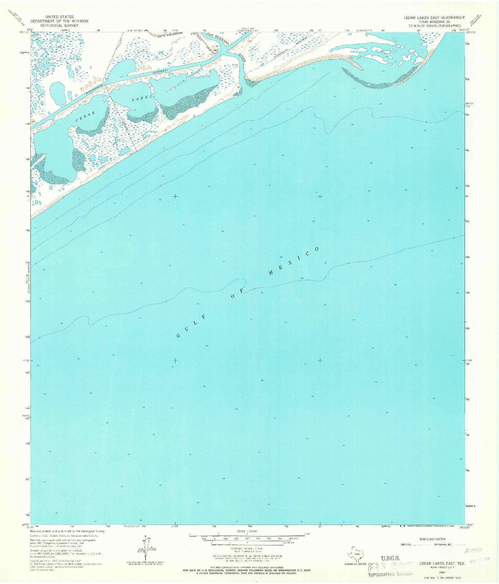 USGS 1:24000-SCALE QUADRANGLE FOR CEDAR LAKES EAST, TX 1964