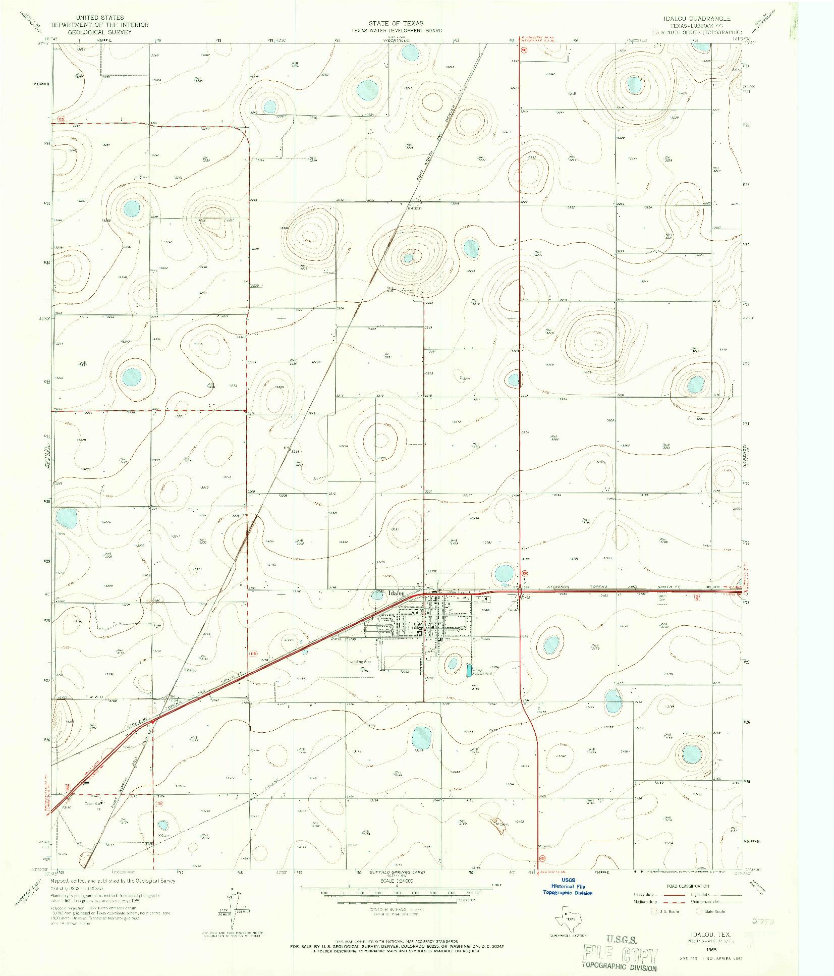 USGS 1:24000-SCALE QUADRANGLE FOR IDALOU, TX 1965
