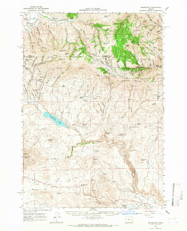 USGS 1:62500-SCALE QUADRANGLE FOR BRIDGEPORT, OR 1964