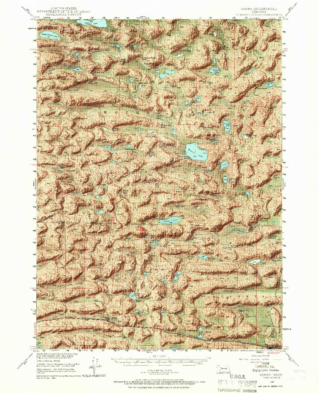 USGS 1:62500-SCALE QUADRANGLE FOR ASHBY, NE 1948