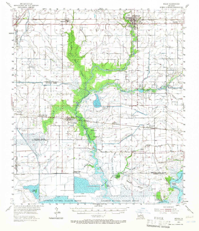 USGS 1:62500-SCALE QUADRANGLE FOR WELSH, LA 1955