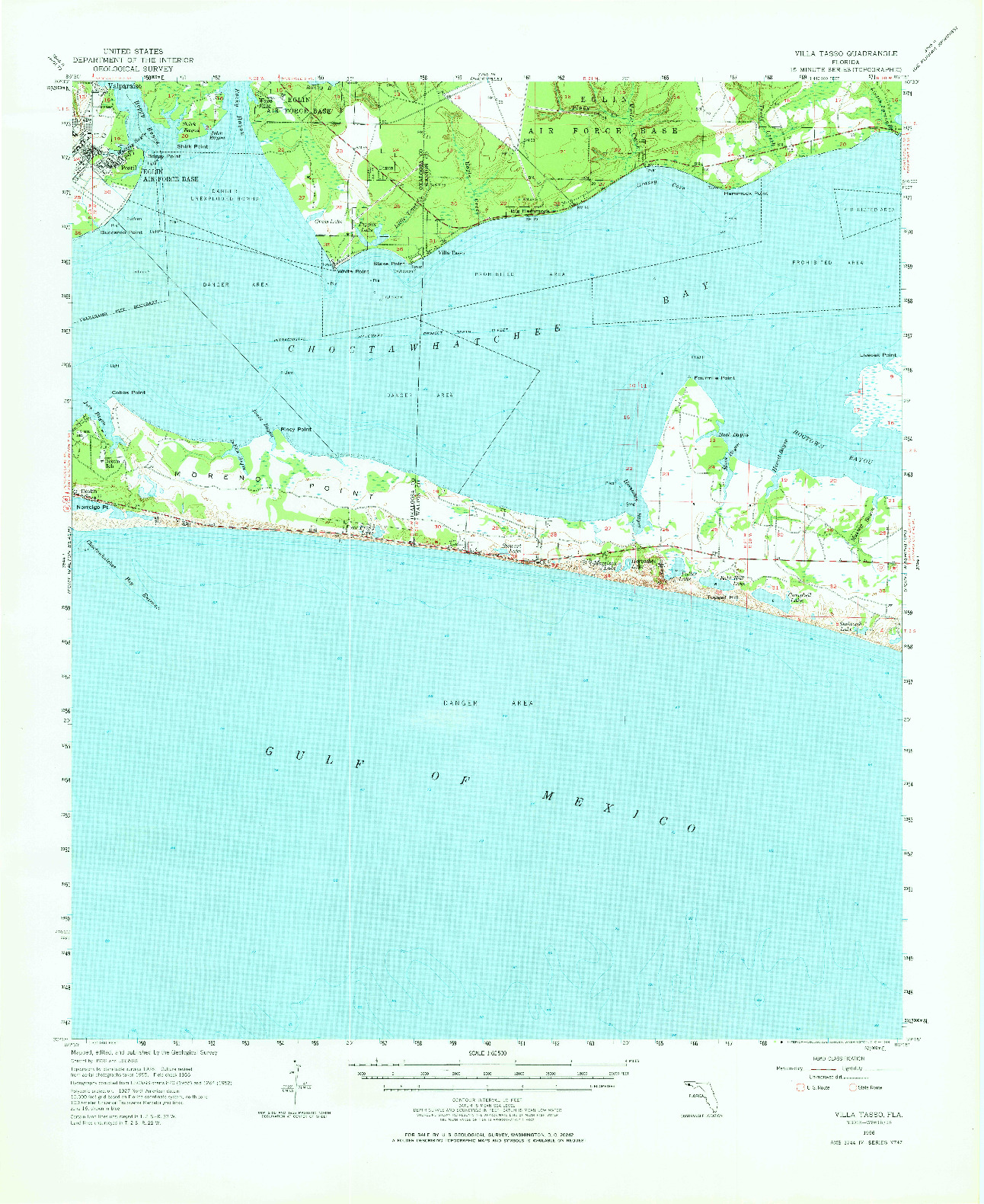 USGS 1:62500-SCALE QUADRANGLE FOR VILLA TASSO, FL 1956