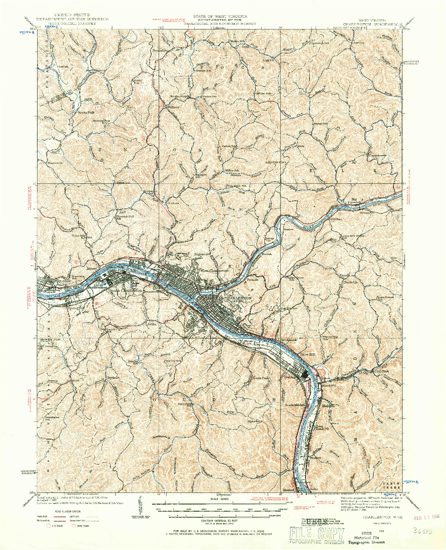 USGS 1:62500-SCALE QUADRANGLE FOR CHARLESTON, WV 1931