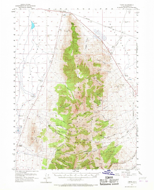 USGS 1:62500-SCALE QUADRANGLE FOR TIMPIE, UT 1955