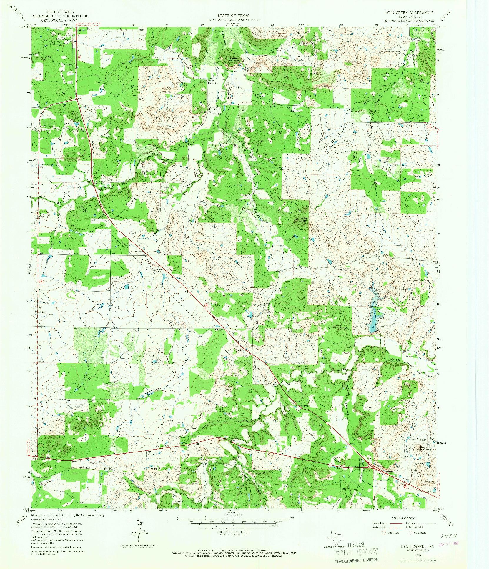 USGS 1:24000-SCALE QUADRANGLE FOR LYNN CREEK, TX 1964
