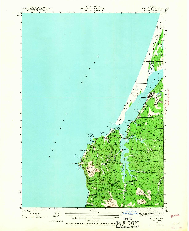 USGS 1:62500-SCALE QUADRANGLE FOR EMPIRE, OR 1942