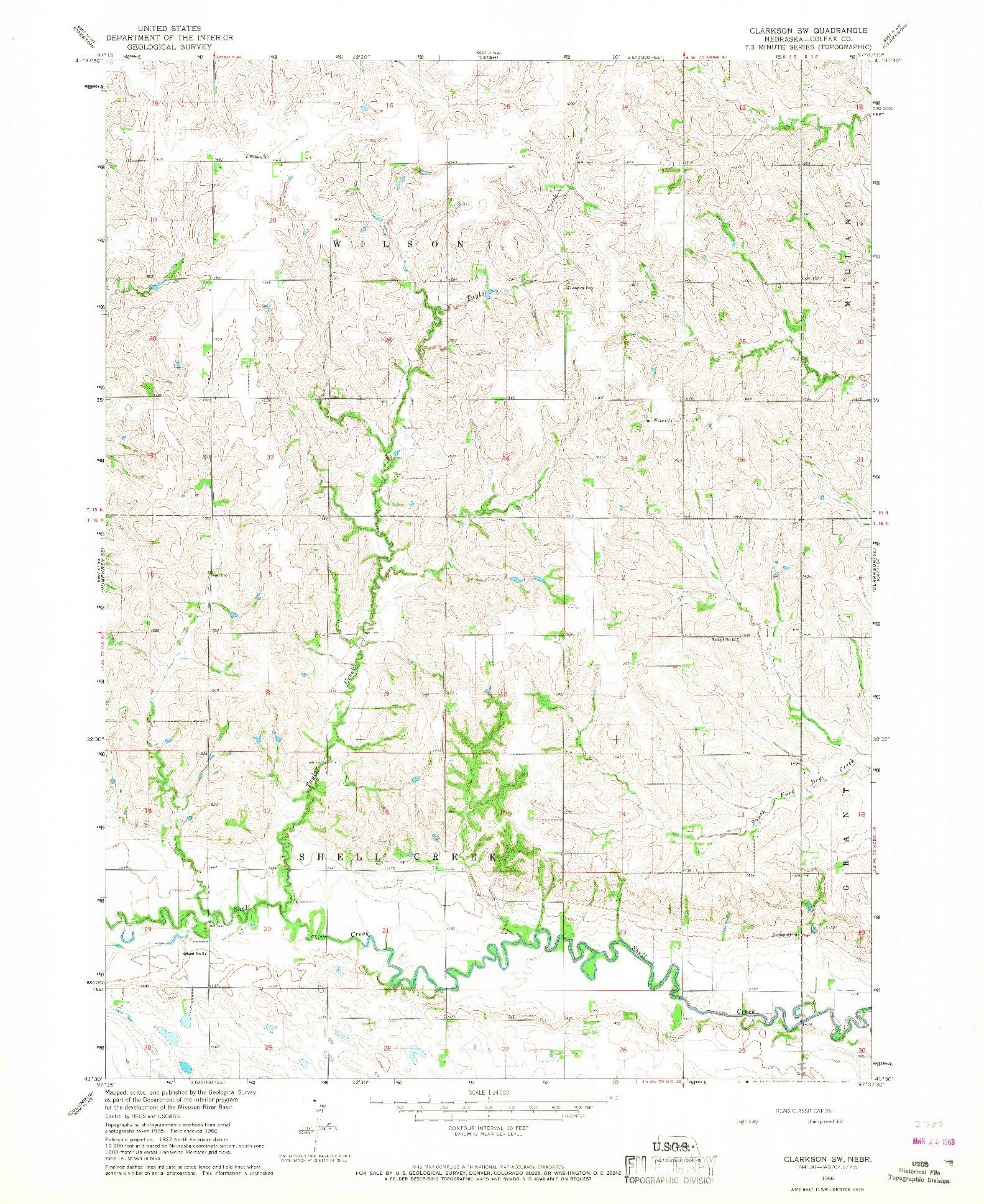 USGS 1:24000-SCALE QUADRANGLE FOR CLARKSON SW, NE 1966