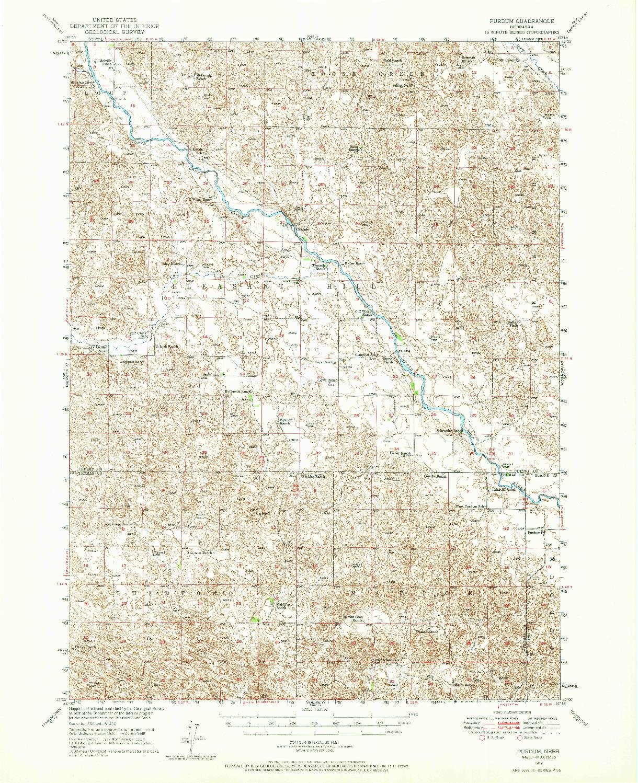 USGS 1:62500-SCALE QUADRANGLE FOR PURDUM, NE 1949