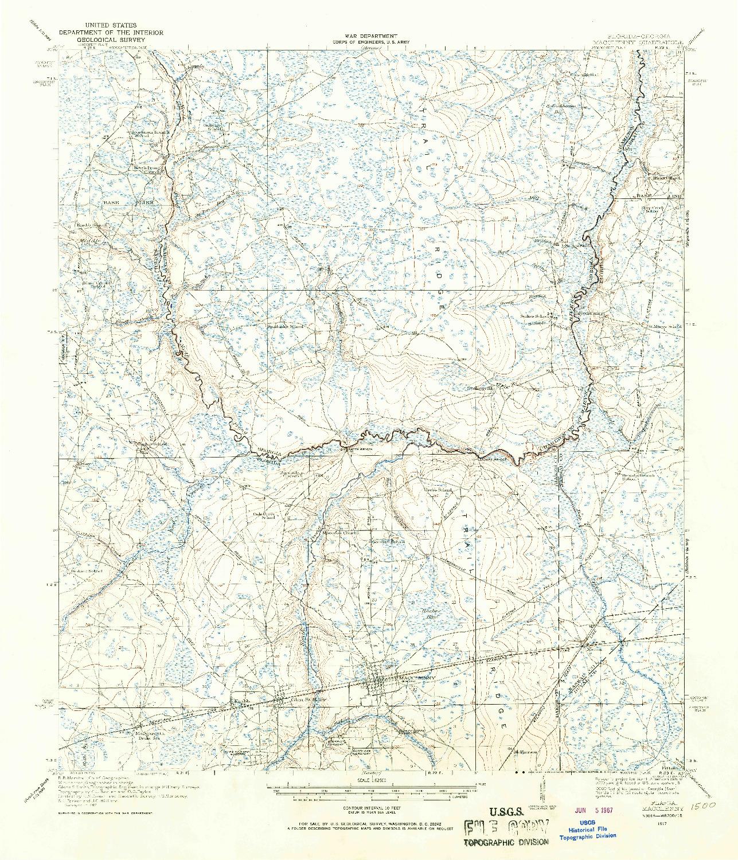 USGS 1:62500-SCALE QUADRANGLE FOR MACCLENNY, FL 1917