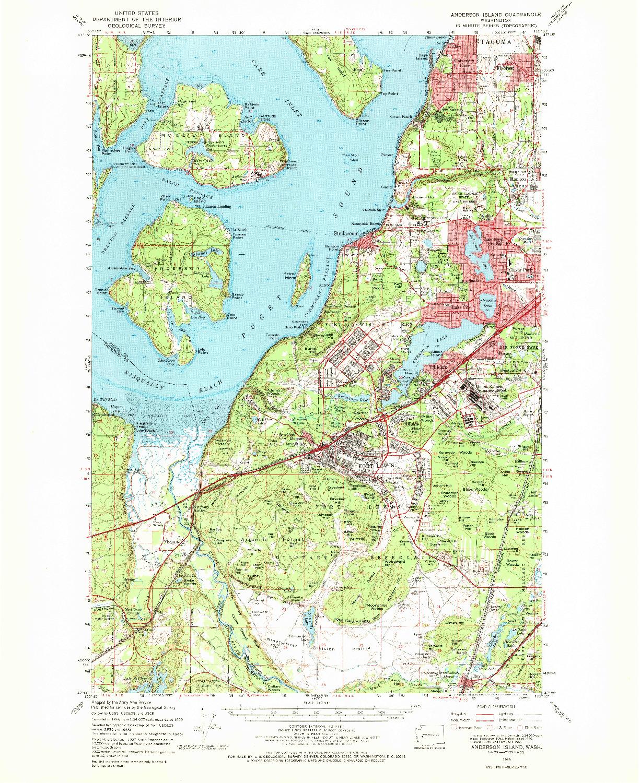 USGS 1:62500-SCALE QUADRANGLE FOR ANDERSON ISLAND, WA 1959
