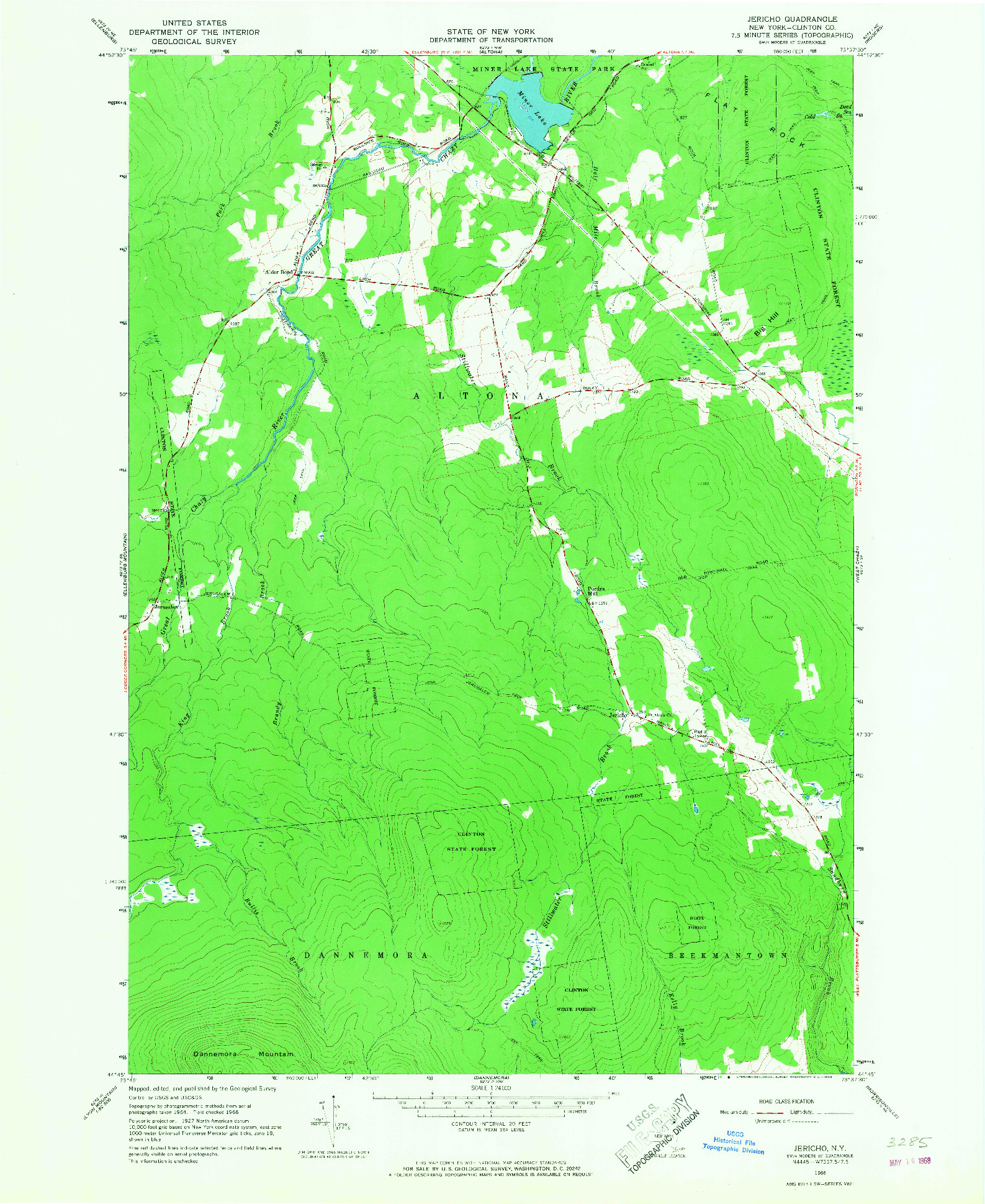 USGS 1:24000-SCALE QUADRANGLE FOR JERICHO, NY 1966