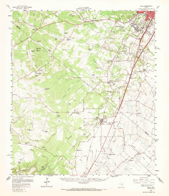USGS 1:62500-SCALE QUADRANGLE FOR BUDA, TX 1958