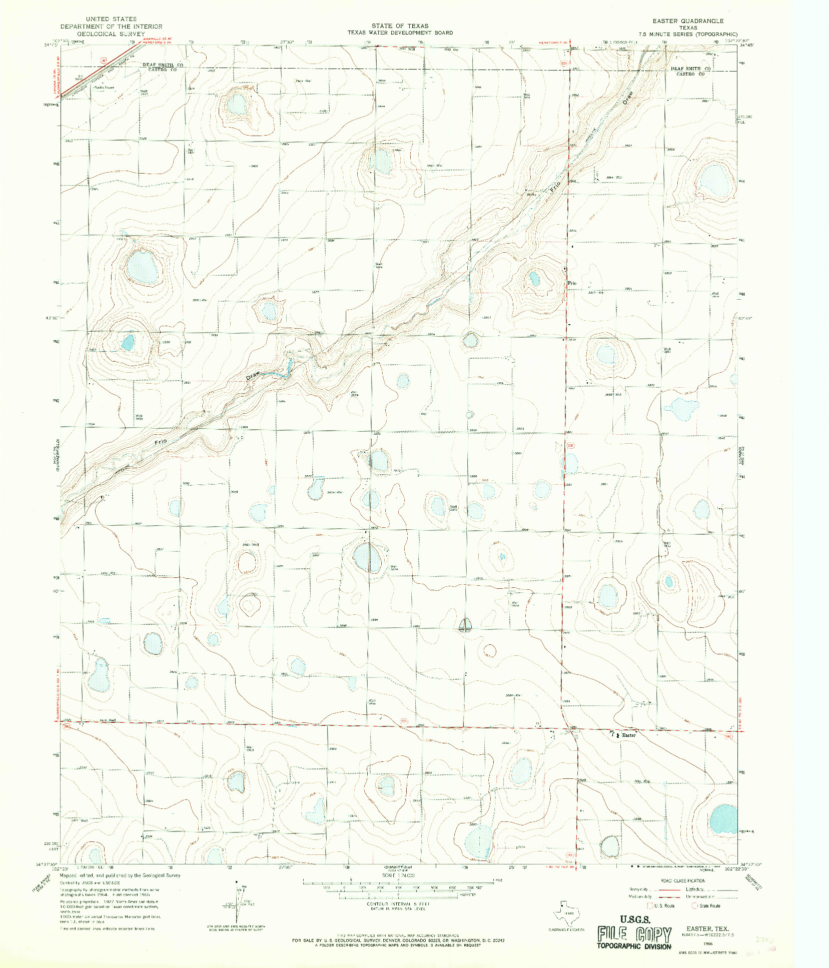 USGS 1:24000-SCALE QUADRANGLE FOR EASTER, TX 1966