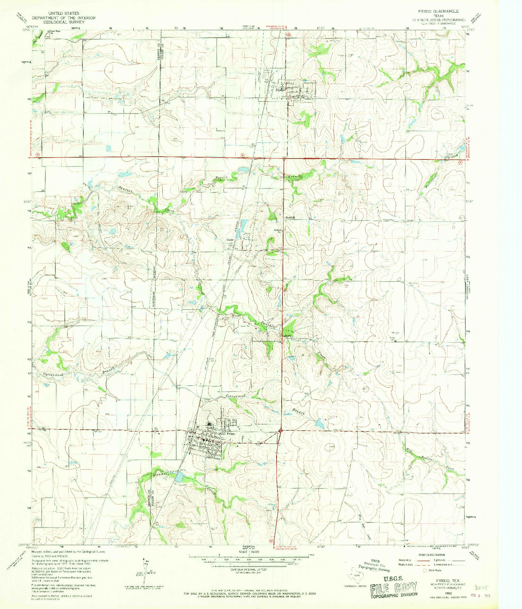 USGS 1:24000-SCALE QUADRANGLE FOR FRISCO, TX 1960
