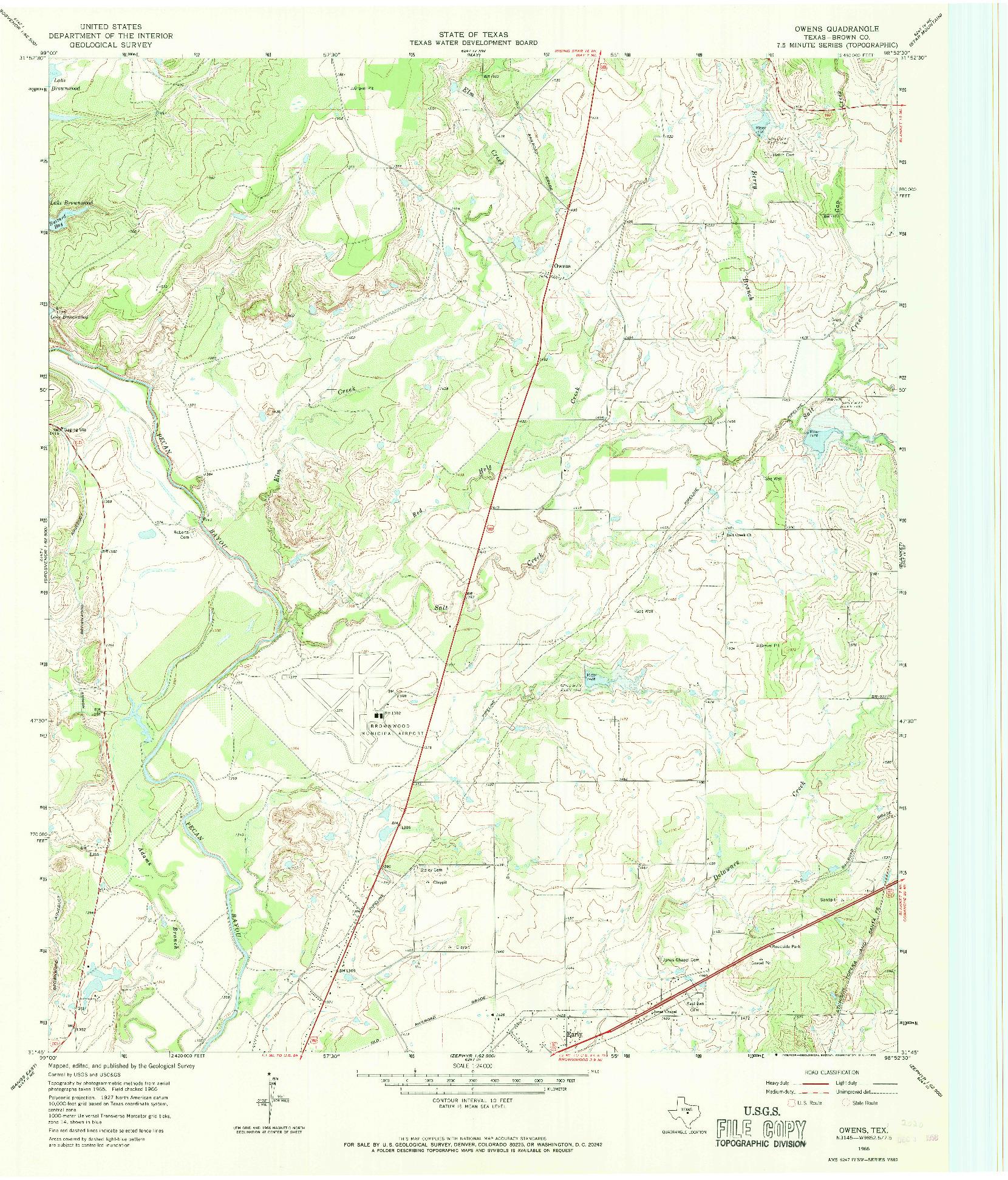 USGS 1:24000-SCALE QUADRANGLE FOR OWENS, TX 1966