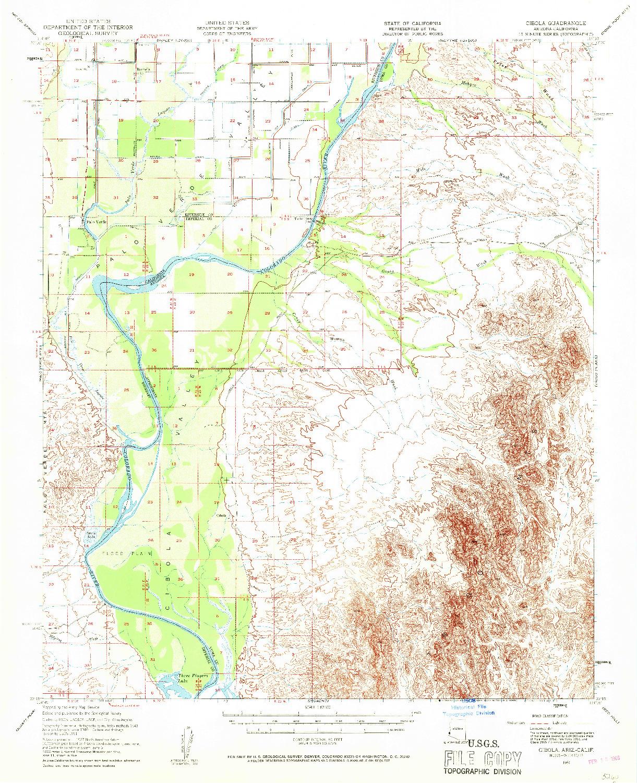 USGS 1:62500-SCALE QUADRANGLE FOR CIBOLA, AZ 1951