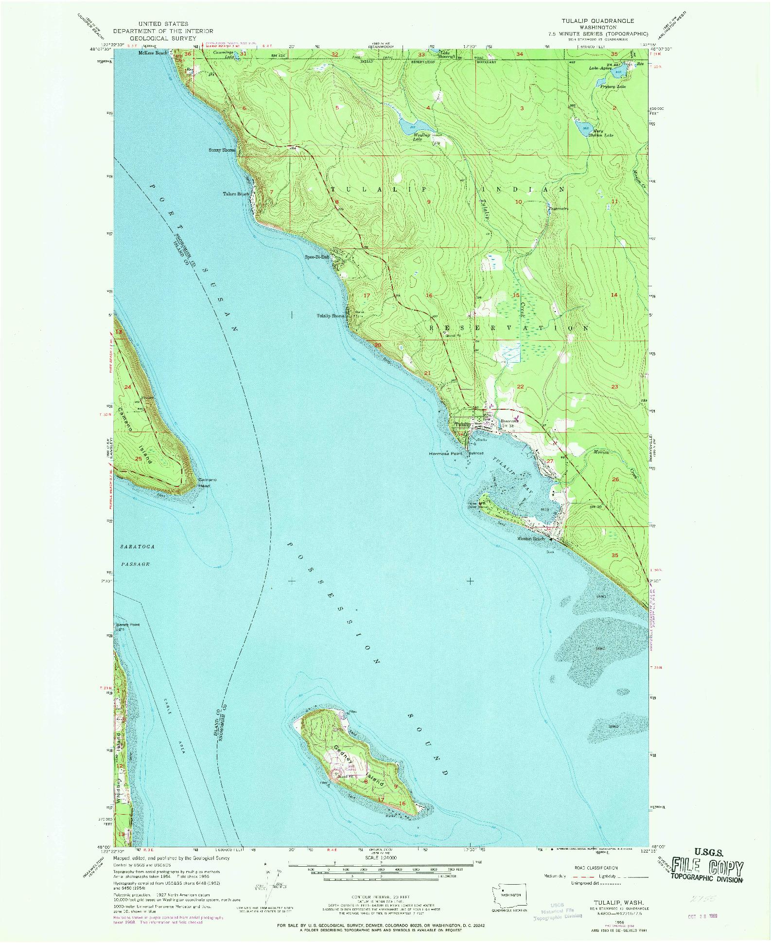 USGS 1:24000-SCALE QUADRANGLE FOR TULALIP, WA 1956