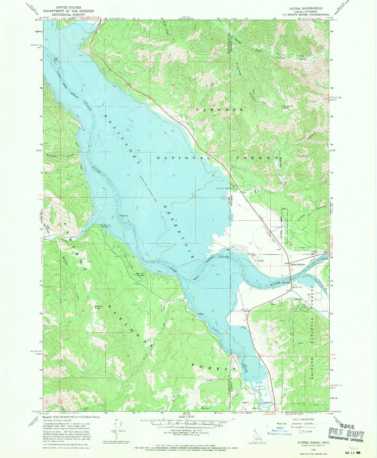 USGS 1:24000-SCALE QUADRANGLE FOR ALPINE, ID 1966