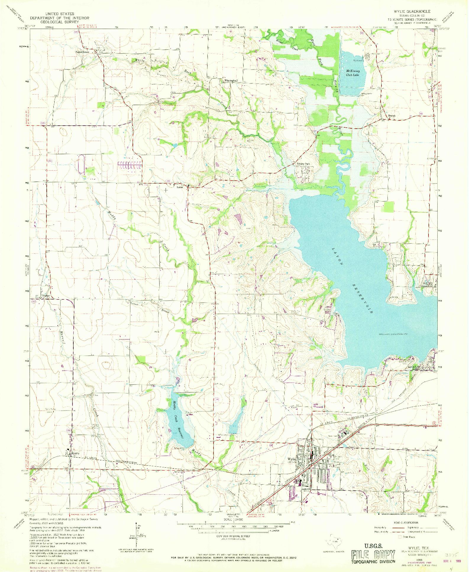 USGS 1:24000-SCALE QUADRANGLE FOR WYLIE, TX 1959