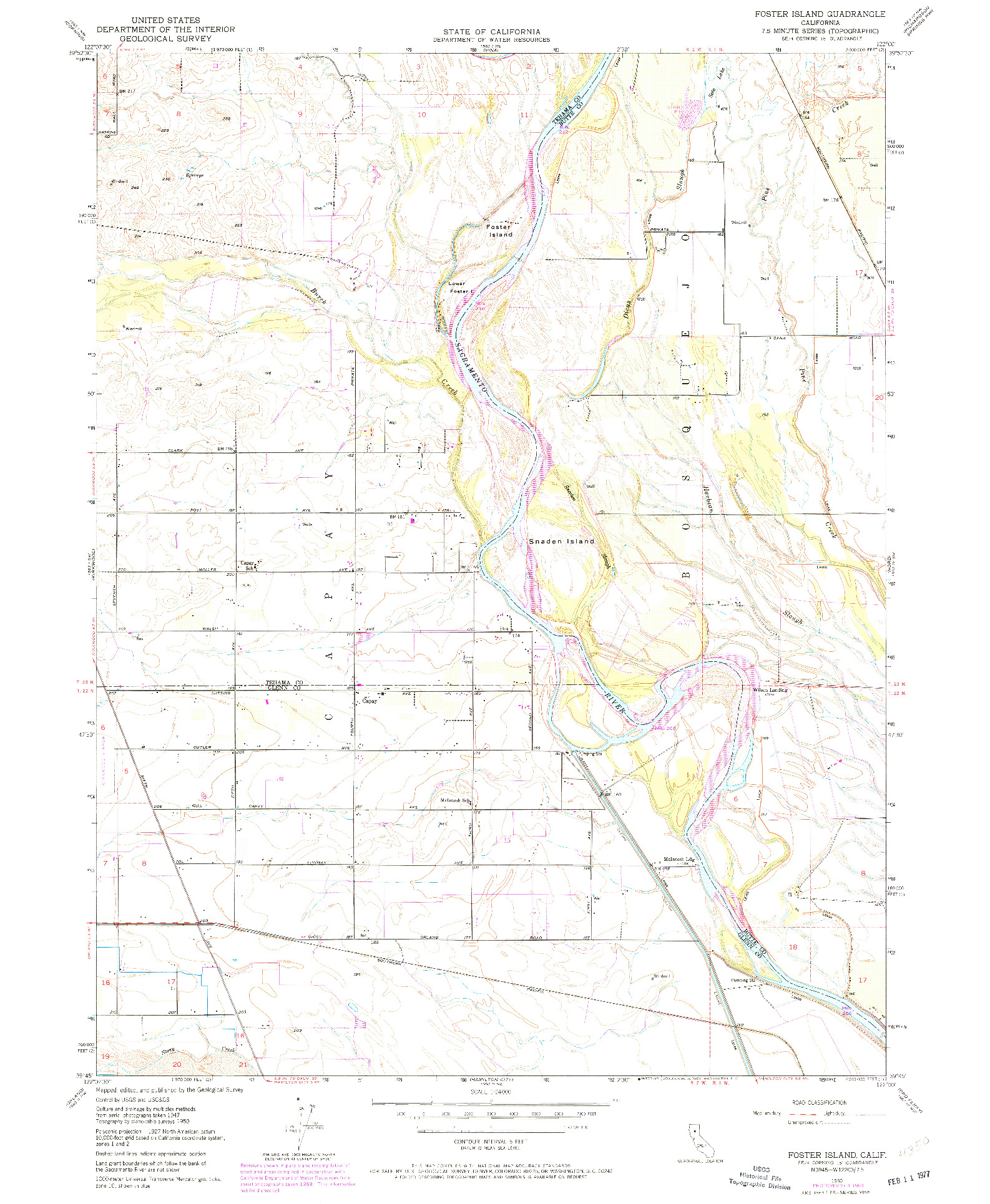 USGS 1:24000-SCALE QUADRANGLE FOR FOSTER ISLAND, CA 1950