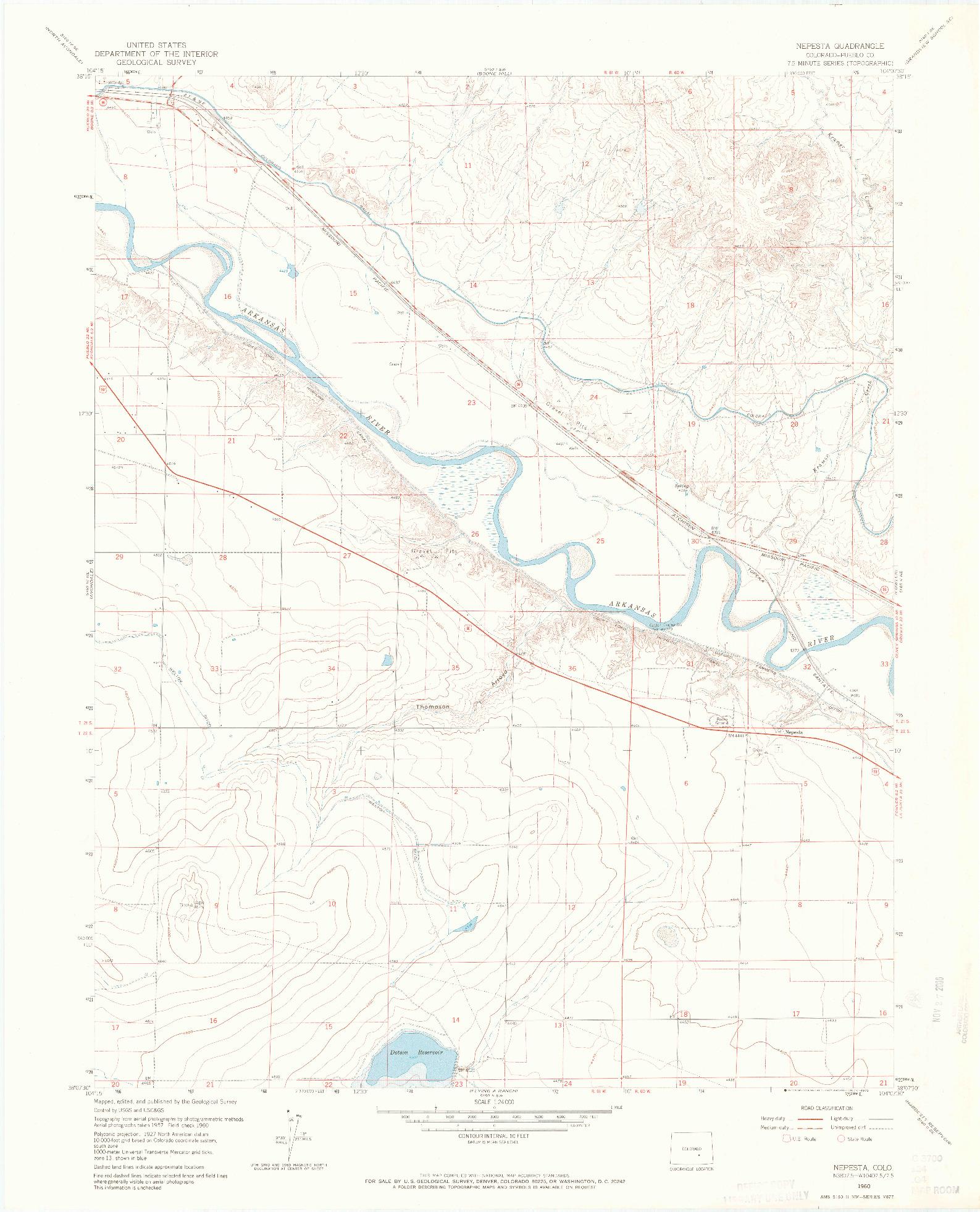 USGS 1:24000-SCALE QUADRANGLE FOR NEPESTA, CO 1960