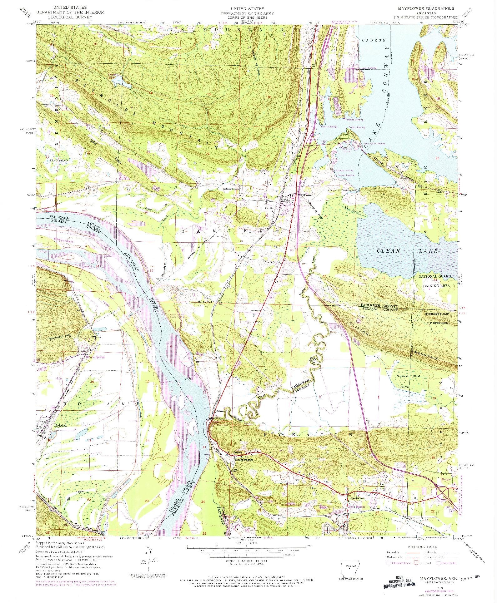 USGS 1:24000-SCALE QUADRANGLE FOR MAYFLOWER, AR 1953