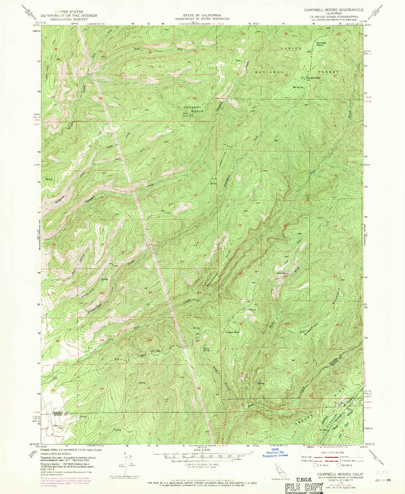 USGS 1:24000-SCALE QUADRANGLE FOR CAMPBELL MOUND, CA 1952