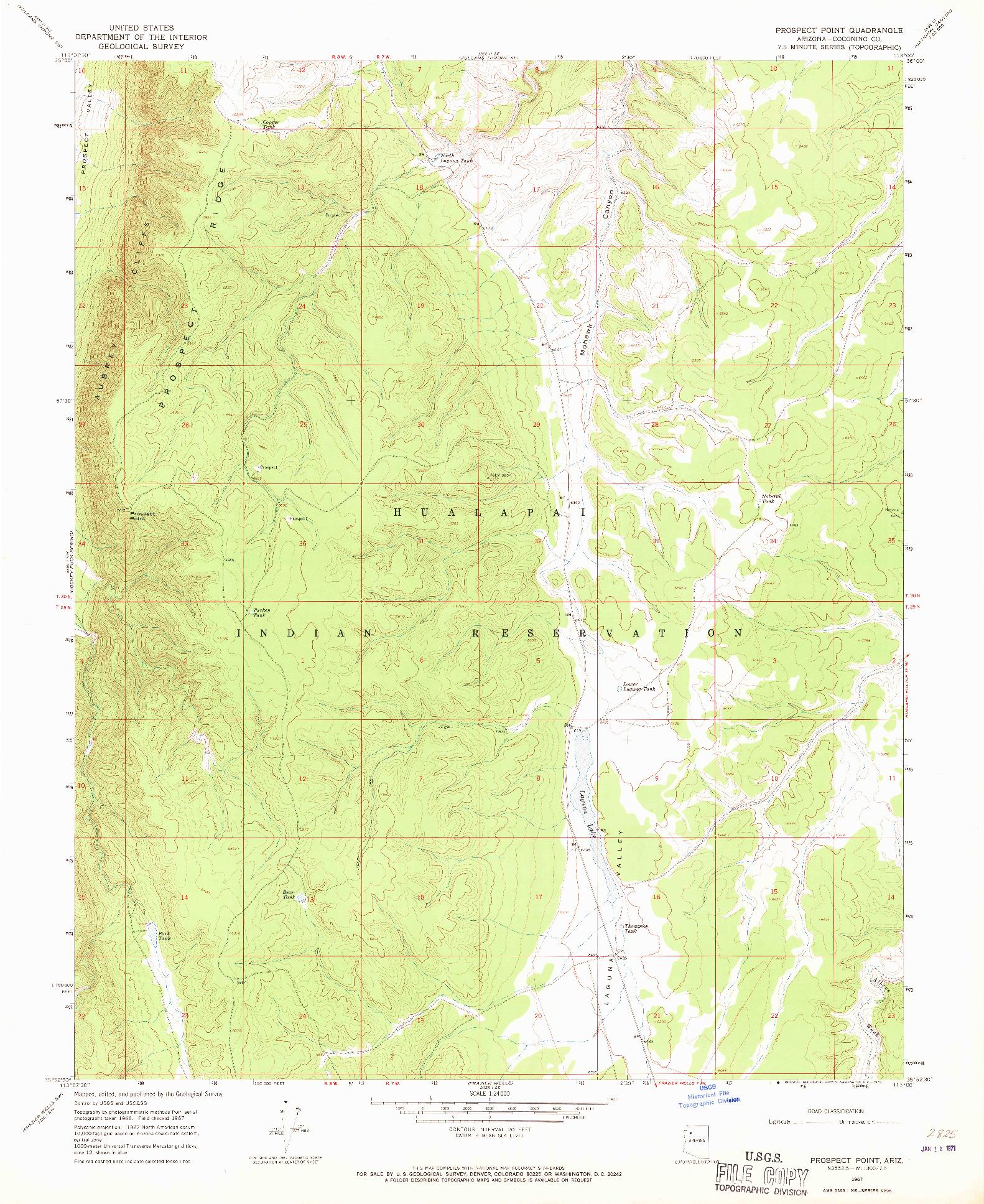 USGS 1:24000-SCALE QUADRANGLE FOR PROSPECT POINT, AZ 1967