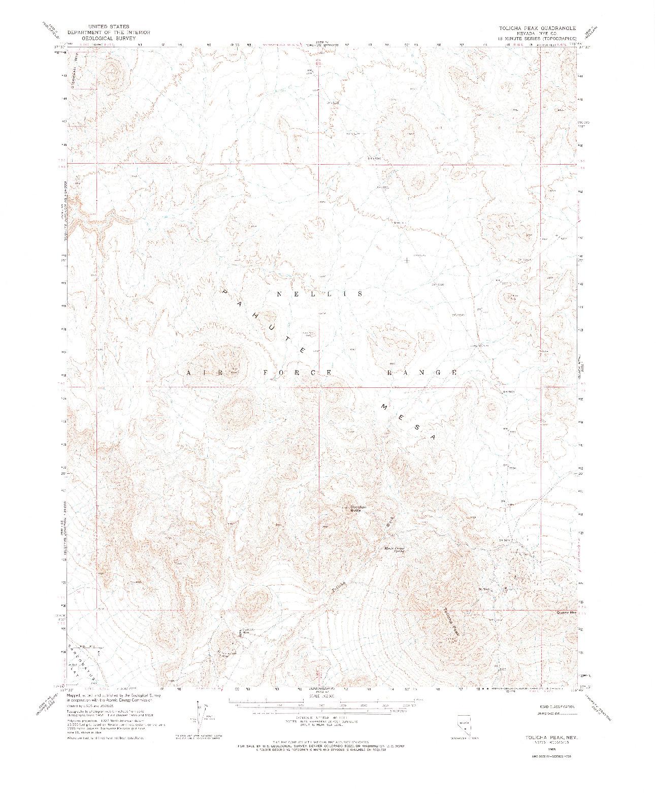 USGS 1:62500-SCALE QUADRANGLE FOR TOLICHA PEAK, NV 1968