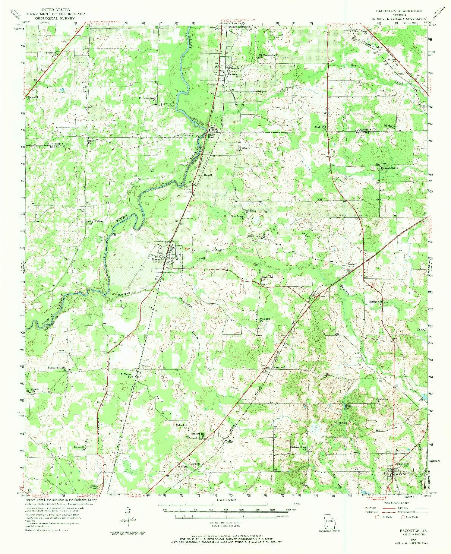 USGS 1:62500-SCALE QUADRANGLE FOR BACONTON, GA 1956