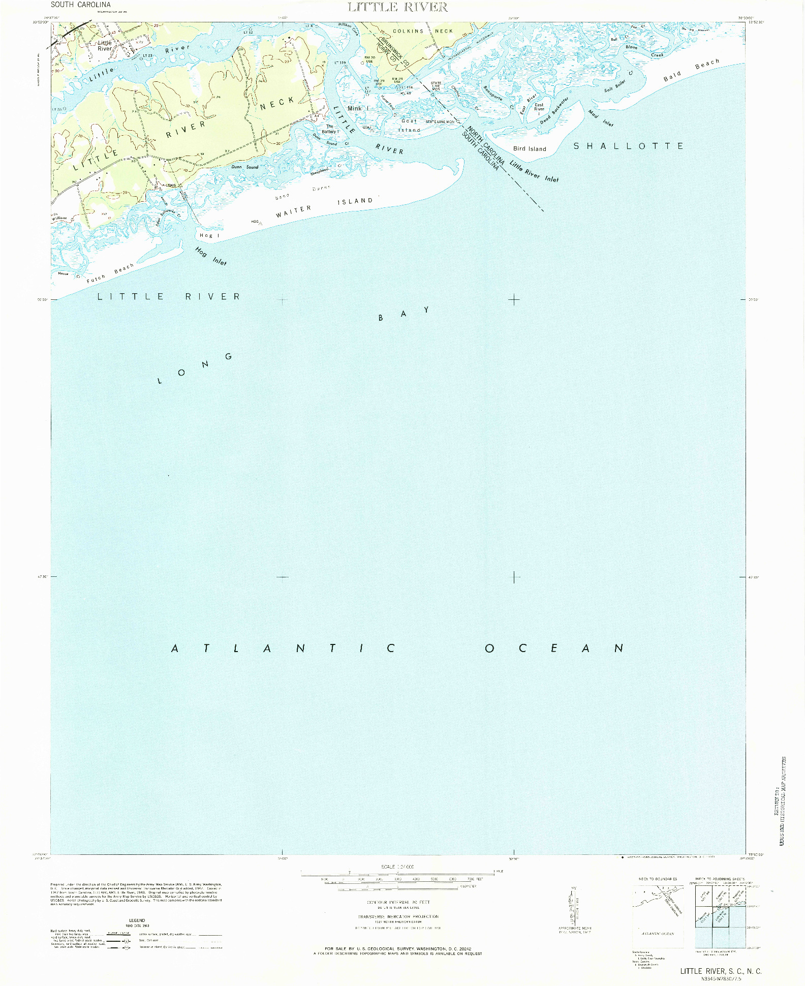 USGS 1:24000-SCALE QUADRANGLE FOR LITTLE RIVER, SC 1971