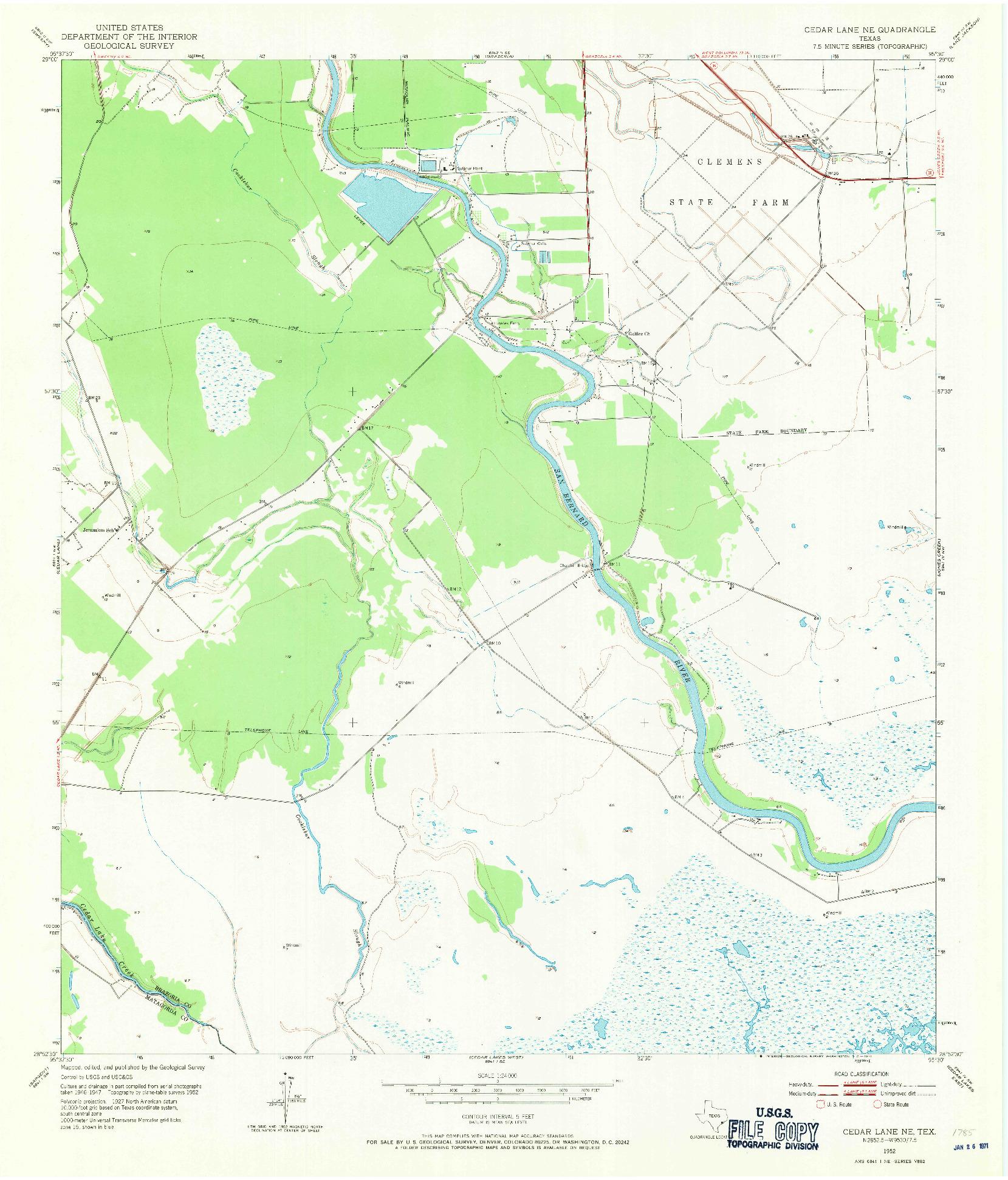 USGS 1:24000-SCALE QUADRANGLE FOR CEDAR LANE NE, TX 1952