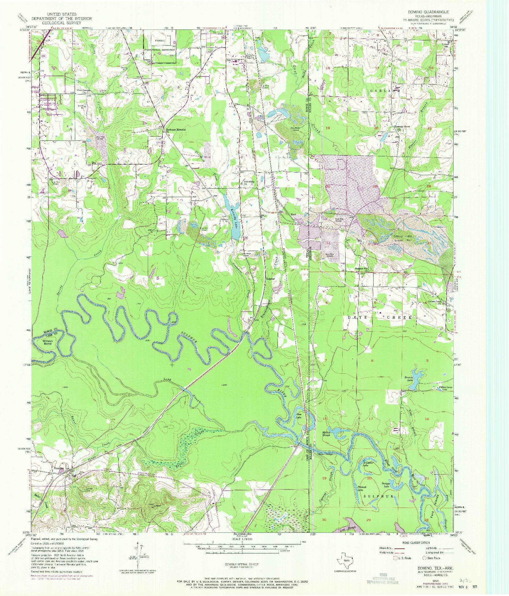 USGS 1:24000-SCALE QUADRANGLE FOR DOMINO, TX 1954
