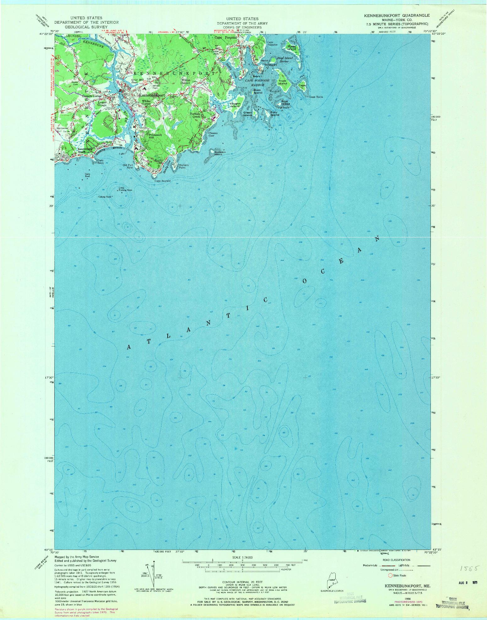 USGS 1:24000-SCALE QUADRANGLE FOR KENNEBUNKPORT, ME 1956