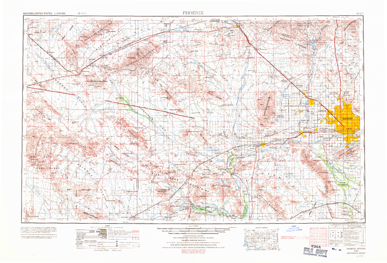 USGS 1:250000-SCALE QUADRANGLE FOR PHOENIX, AZ 1969