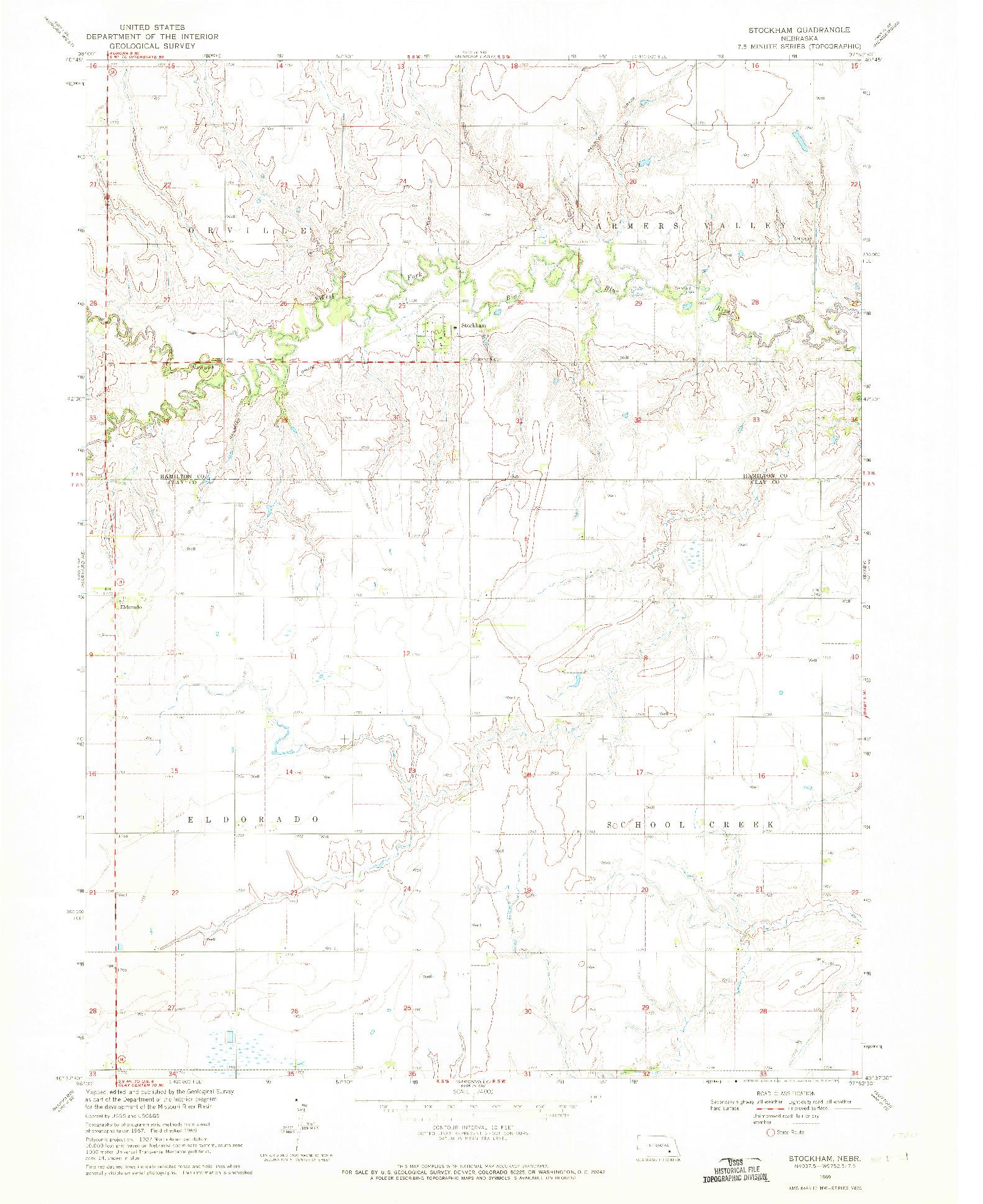 USGS 1:24000-SCALE QUADRANGLE FOR STOCKHAM, NE 1969