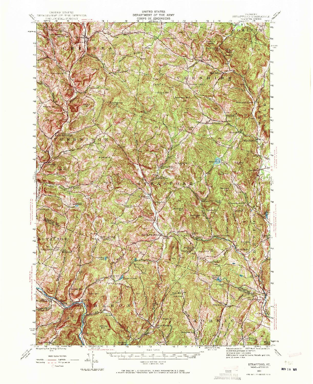 USGS 1:62500-SCALE QUADRANGLE FOR STRAFFORD, VT 1944