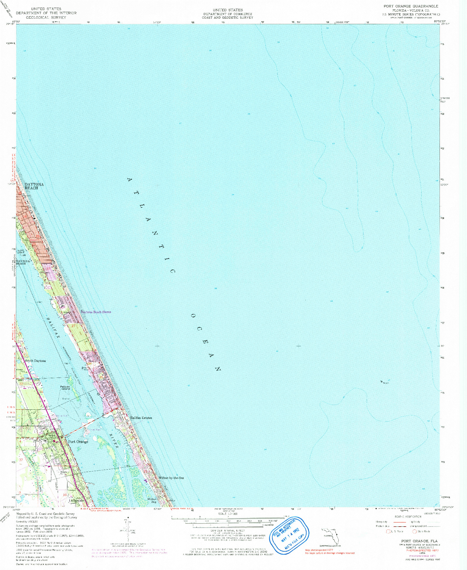 USGS 1:24000-SCALE QUADRANGLE FOR PORT ORANGE, FL 1956