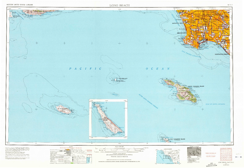 USGS 1:250000-SCALE QUADRANGLE FOR LONG BEACH, CA 1957
