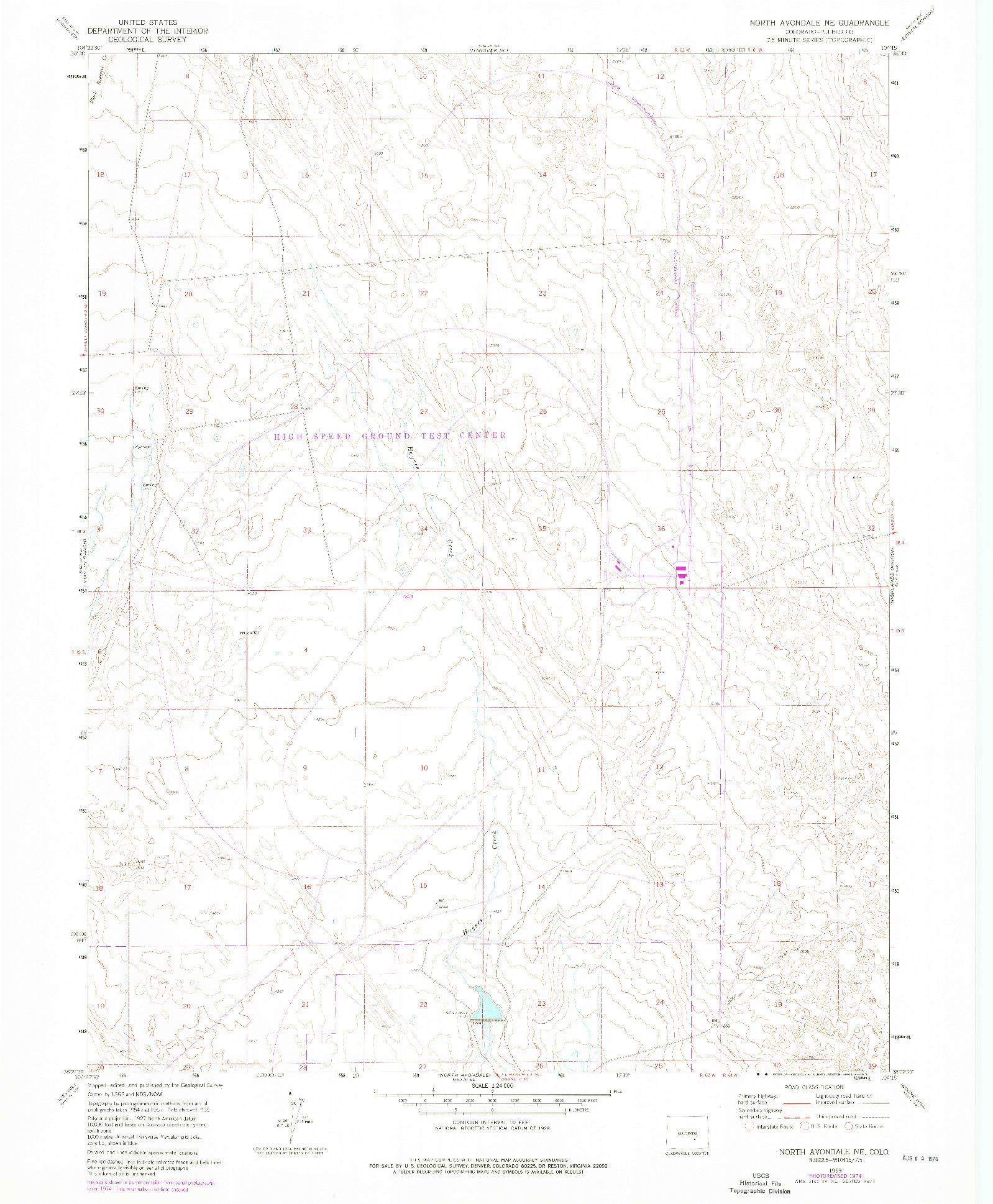 USGS 1:24000-SCALE QUADRANGLE FOR NORTH AVONDALE NE, CO 1960