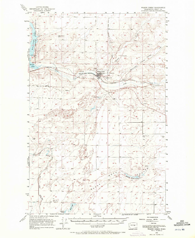 USGS 1:62500-SCALE QUADRANGLE FOR WILSON CREEK, WA 1956